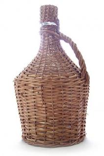 Glasballon im Weidenkorb ? 15 Liter, Demijohn mit Korken