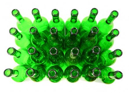 24 x Weinflaschen Bordeaux ? 0, 75 Liter ? grün - Vorschau 1