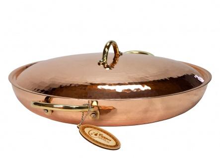 """"""" CopperGarden®"""" 36 cm Kupferpfanne mit Griffen & Deckel - verzinnt"""