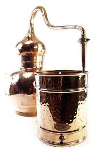 """"""" CopperGarden®"""" Destille Alembik 5 L, verschweißt mit Thermometer"""