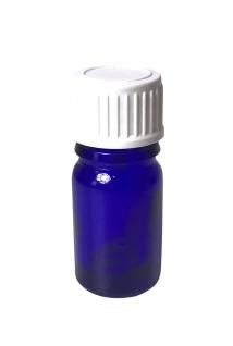 Blauglasflasche 5 ml mit DIN18 Gewinde & Deckel