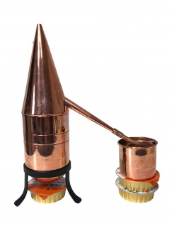""""""" CopperGarden"""" Destille HENNIN 0, 5 Liter - Rosenhutdestille mit Zubehör"""