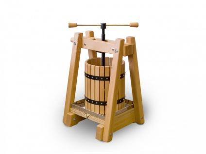 Weinpresse / Obstpresse 20 Liter - Buchenholz