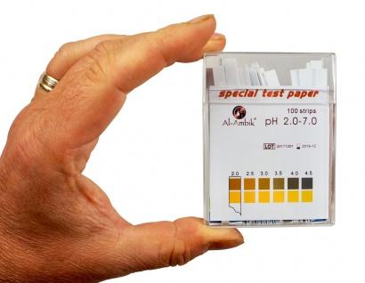 Al-Ambik® PH Indikatoren PH 2-7 ? 100 PH Teststreifen mit Farbtabelle - Vorschau 3