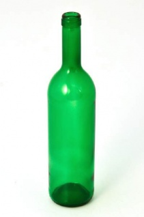 "Weinflasche "" Bordeaux"" grün (0, 75 L)"