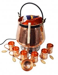 CopperGarden® Feuerzangenbowle ? 20 Liter Kupferkessel ? mit allem Zubehör - Vorschau 5