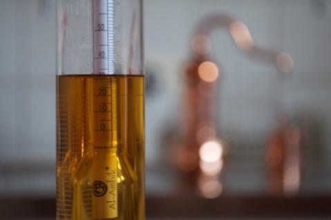 """"""" Al-Ambik®"""" Alkoholmeter 0 - 100% mit Thermometer zum Messen der Alkohol Prozente - Vorschau 3"""