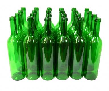 24 x Weinflaschen Bordeaux ? 0, 75 Liter ? grün - Vorschau 3