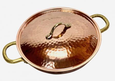 """"""" CopperGarden®"""" 24 cm Kupferpfanne mit Griffen & Deckel - verzinnt"""