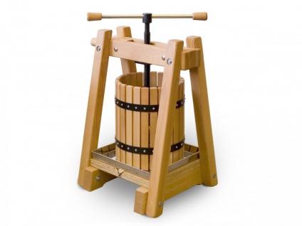 Weinpresse / Obstpresse 40 Liter - Buchenholz