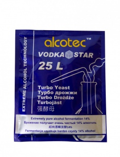 """ Alcotec"" Turbohefe Vodka Star, 14 % in 5 -6 Tagen"