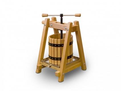 Weinpresse / Obstpresse 10 Liter - Buchenholz