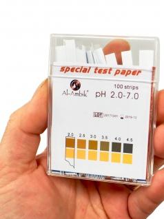 Al-Ambik® PH Indikatoren PH 2-7 ? 100 PH Teststreifen mit Farbtabelle