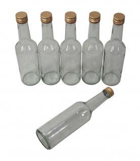 6 x Spirituosenflasche ? 0, 5 Liter ? mit goldenem Schraubdeckel - Vorschau 3