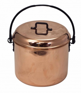 """ CopperGarden"" Kupfertopf 8L, glatt mit Henkel"