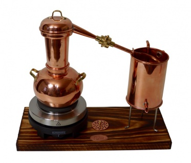 """"""" CopperGarden®"""" Destillieranlage ARABIA SUPREME 0, 5 Liter Tischdestille mit Aromasieb & Kochplatte"""