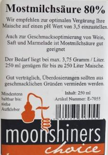 MoonshinersChoice® Mostmilchsäure 80%ig ? 250 Gramm für bis zu 250 Liter - Vorschau 4