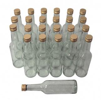 24 x Spirituosenflaschen ? 0, 5 Liter ? mit goldenem Schraubdeckel
