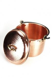 """ CopperGarden®"" Kupfertopf 8L, gehämmert mit Henkel & Deckel"