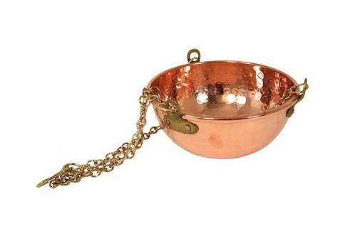 """"""" CopperGarden®"""" hängende Kupferschale ? 2 Liter ? mit Ketten zum aufhängen"""