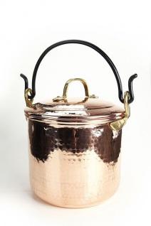 """"""" CopperGarden"""" Kupfertopf mit Deckel, 5 Liter mit Henkel, blankes Kupfer"""