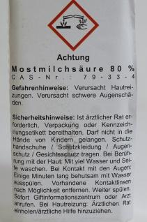 MoonshinersChoice® Mostmilchsäure 80%ig ? 250 Gramm für bis zu 250 Liter - Vorschau 5