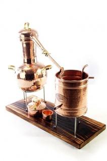 """,, CopperGarden"""" Destillieranlage ARABIA SUPREME 2 Liter mit Spiritusbrenner & Thermometer"""
