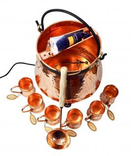 CopperGarden® Feuerzangenbowle ? 20 Liter Kupferkessel ? mit allem Zubehör - Vorschau 4