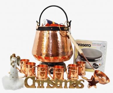 CopperGarden® Feuerzangenbowle ? 20 Liter Kupferkessel ? mit allem Zubehör