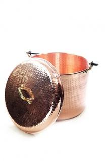""" CopperGarden®"" Kupfertopf 18L, gehämmert mit Henkel & Deckel"