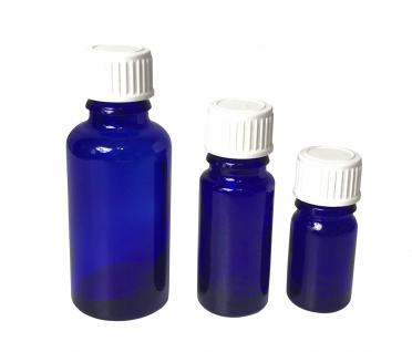 Blauglasflasche 5 ml mit DIN18 Gewinde & Deckel - Vorschau 4