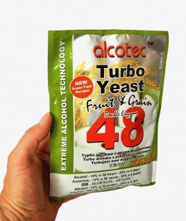 ALCOTEC Turbohefe 48H ? Spezial Frucht & Korn ? 14% in 36 Stunden ? 20% in 4 Tagen - Vorschau 1