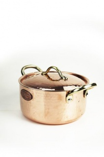 """"""" CopperGarden"""" Kupfertopf mit Deckel, 20 cm 2 Liter verzinnt"""