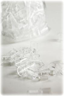 """"""" Hecht"""" Raschigringe aus Glas ? 8mm / 100 Gramm / 180 ml"""