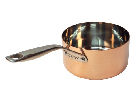 B'Chef Kasserolle 16 cm = 1, 5 Liter mit Stahlboden = Induktionsgeeignet