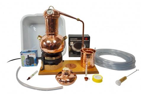 """"""" CopperGarden"""" Destillieranlage ARABIA 2 Liter Tischdestille Sorgenfrei Paket mit allem Zubehör"""
