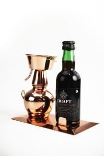""""""" CopperGarden®"""" Flaschenhalter Alquitara auf Kupferplatte"""