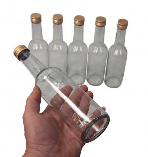 6 x Spirituosenflasche ? 0, 5 Liter ? mit goldenem Schraubdeckel - Vorschau 4