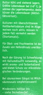 """"""" Arauner"""" Hefe Lebendkultur Steinberg 20 ml = 50 Liter - Vorschau 2"""