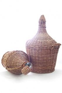 Glasballon im Weidenkorb - 5 Liter Demijohn - ohne Korken - Vorschau 2