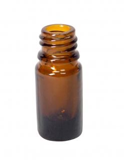 Braunglas-Flasche 10 ml mit DIN18 Gewinde & Deckel