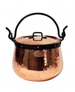 """ CopperGarden"" Kupferkessel 3 Liter mit Deckel - Hexenkessel"