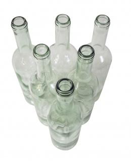 6 x Weinflasche Bordeaux 0, 75L, Klarglas - Vorschau 3