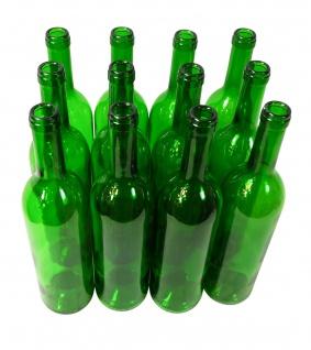 "12 x Weinflasche "" Bordeaux"" grün (0, 75 L)"