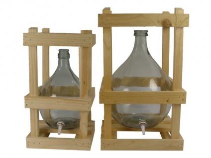Glasballon im Holzgestell - 10 Liter mit Ablaufhahn & Korken - Vorschau 5