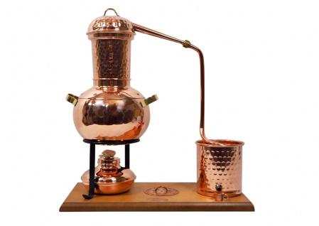 """"""" CopperGarden"""" Destillieranlage ARABIA 2.0 Tischdestille mit Spiritusbrenner & Aromasieb"""