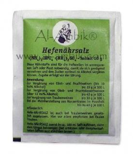 """"""" Arauner"""" Hefenährsalz - 10 Gramm im Beutel - für 25 Liter Maische"""