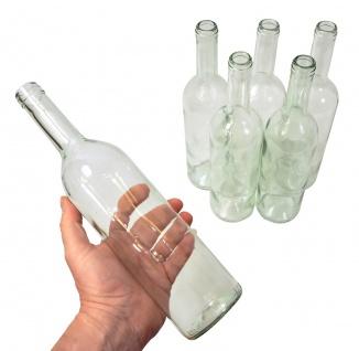 6 x Weinflasche Bordeaux 0, 75L, Klarglas - Vorschau 2
