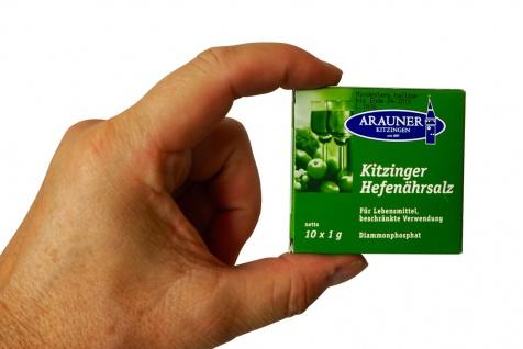 """"""" Arauner"""" Hefenährsalz ? 10 x 1 Gramm im Beutel ? neue praktischere Abpackung"""