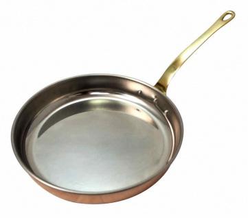 """"""" CopperGarden®"""" 24 cm Kupferpfanne mit Stiel - Edelstahl"""
